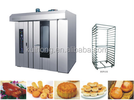 customized 12/ 16/ 32/ 64 trays gas/ electric rotary rack oven