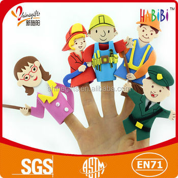 Various shape eva finger puppet for DIY