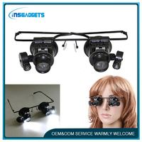 Illuminated magnifier with led light ,h0t155 repair glasses magnifying , headband headset led head lamp light