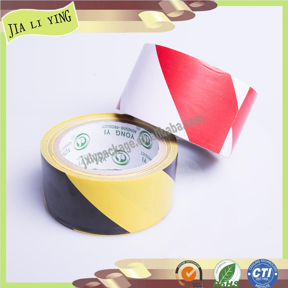 2-Color Strip PVC Isolation Adhesive Warning Glue Tape for Floor Sticking
