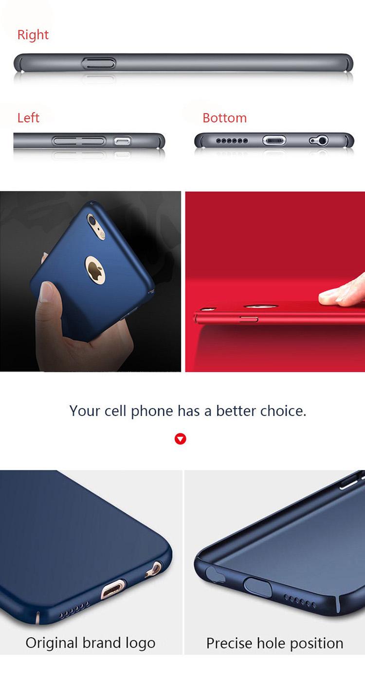 Caso de telefone à prova de choque para o iphone 6 7 6 s 7 mais Protetora Dura Shell Caso Tampa do telefone Celular Claro