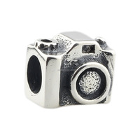 Wholesale Camera Shooting Photograph Genuine 925 Sterling Silver Charm for European Bracelet