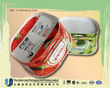 high quality IML mold label label for HDPE container Resins