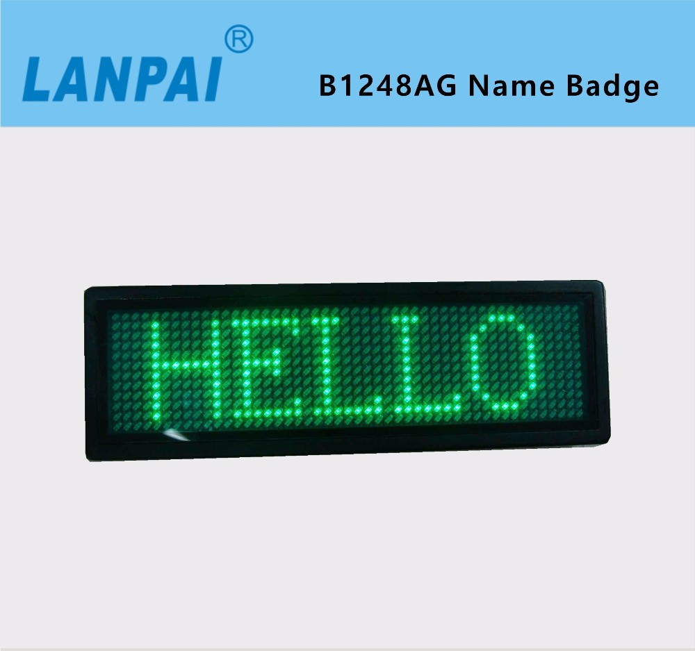 LANPAL led message sign digital electronic LED name badge