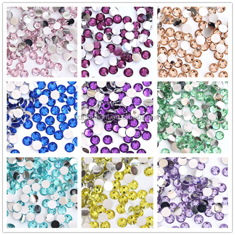 high quality multi facet flatback resin fancy rhinestone with super shine