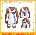 Surfing school team custom sublimation wholesale wrestling singlet