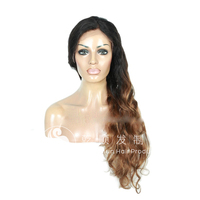 100% human virgin hair two tone color curly natural peruvian hair drop shipping