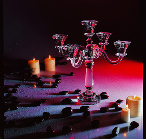 Wedding centerpiece use crystal candle holder for hotel wedding decoration