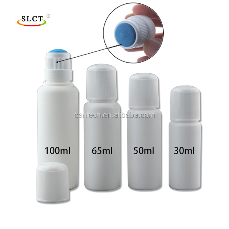 Top quality new style 30~100ml plastic bottles,plastic bottles with sponge applicator,plastics bottles with foamer
