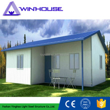 low cost construction materials prefabricated slope roof house