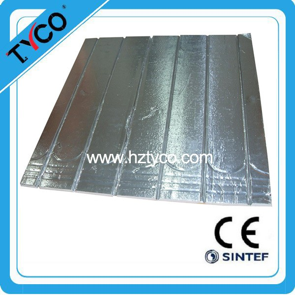 water floor radiant heating xps board with aluminum foil