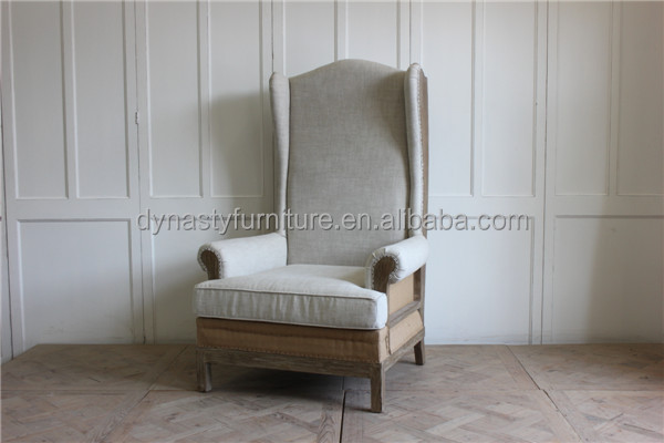 french style indoor furniture designs of single seater long back wooden sofa