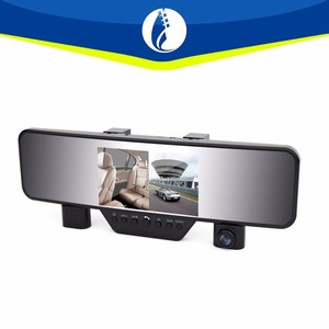 night vision IR infrared car reverse camera Car Security System 4.3 Inch HD Car Rearview Mirror Camera DVR with dual cameras