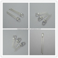 3mm 5mm 10mm water clear flat top led diode super brightness high emitting