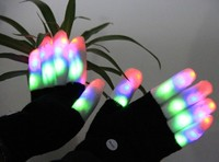2015 led flash rave gloves with led lights