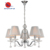 Five lights crystal fabric shade chandelier metal plating chandelier home decorate chain chandelier
