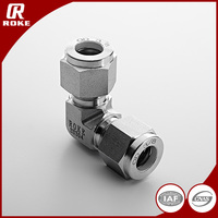 Stainless Steel Hydraulic Swagelok Elbow Union Fittings