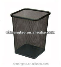 guangzhou manufacture best selling dusty stainless steel square waste bin scrap metal bins for sale