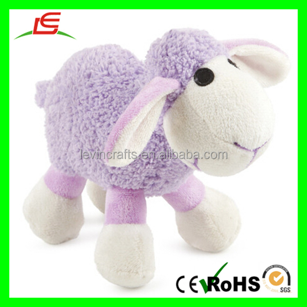 Cute Stuffed Standing Plush Toy Purple Sheep