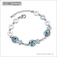 White Gold Plated Crystal Beads Bracelets 110867