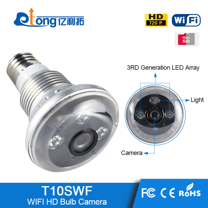 Alibaba Wholesale Smart wireless hidden camera wifi light bulb spy cctv ip cameras