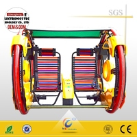 Cheap price outdoor amusement kids ride games Happy car/ leswing car swing ride for sell