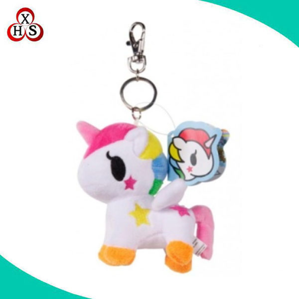 high quality custom stuffed unicorn plush keychain unicorn key chain plush