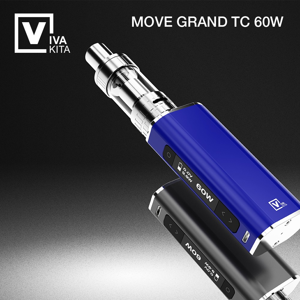 2016 VIVAKITA temperature control 60w OLED screen 510 atomizer stand