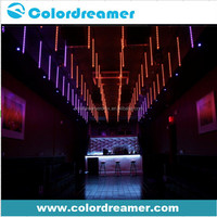 Night club ceiling light led falling star color changing dmx 3d led tube rgb