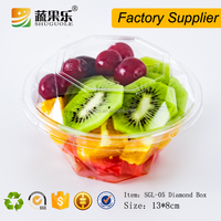 Disposable plastic PET fruit salad packaging container