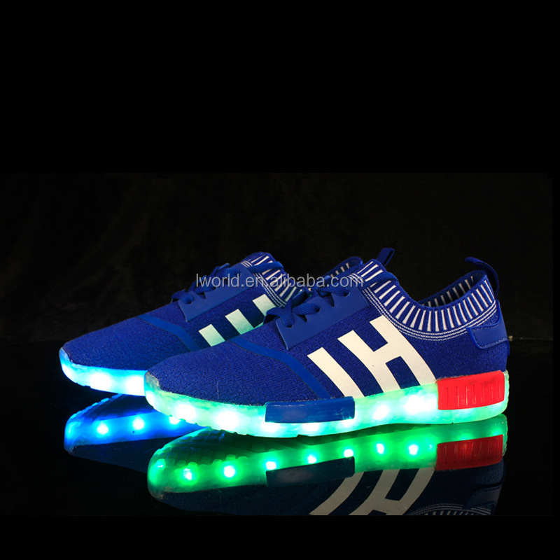 Hot colorful casual led shoes Flash color changing shoes Wholesale Rechargeable led shoes for kids
