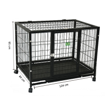 folding heavy duty large dog kennels two doors large animal cage