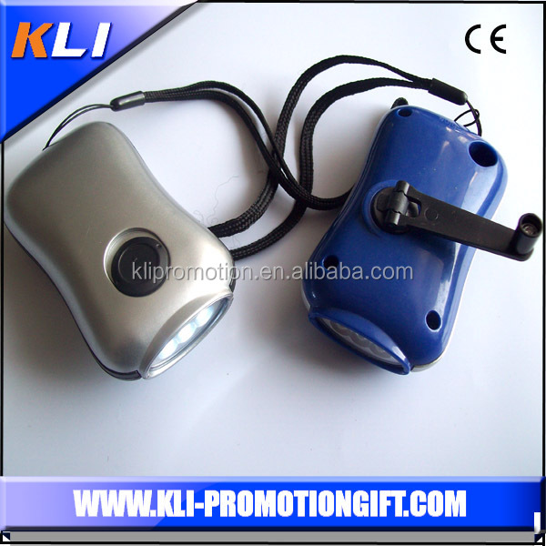ABS LED Torch Light hand crank torch led light