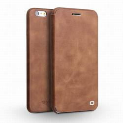 QIALINO Ultra Thin Luxury Cow leather Magnetic Flip Case For iPhone 6 6s plus 5.5inch