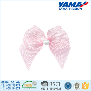 Lovely eco-friendly polyester organza ribbon big bowknot wholesale