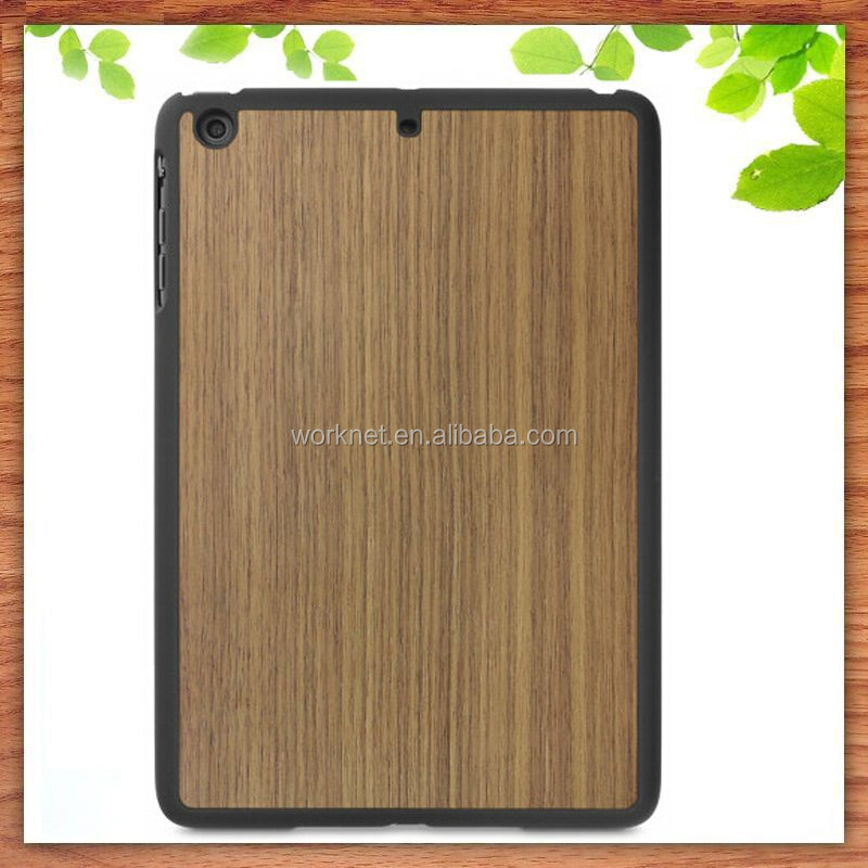 alibaba china gold suppliers walnut wood back real wood snap case for ipad mini 2/3