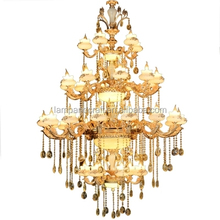 Russia Ceiling Lights Chandeliers Modern Crystal With Drop Ball For Lobby