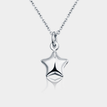 Handmade pure 925 silver small dainty solid five pointed star charm pendant