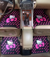brand cartoon hello kitty cartoon girl's woman's fashion cute anti-water anti-slip universal car floor mats for all car models