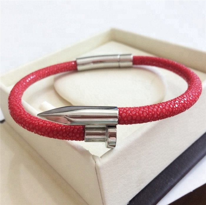 Best Sale Luxury Genuine Stingray Leather Bracelet _1