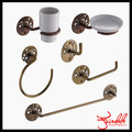 Iron material antique brass 6 pieces complete bathroom sets