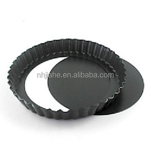 Aluminium Non-stick Round Fluted Tart Mould with Removable Bottom
