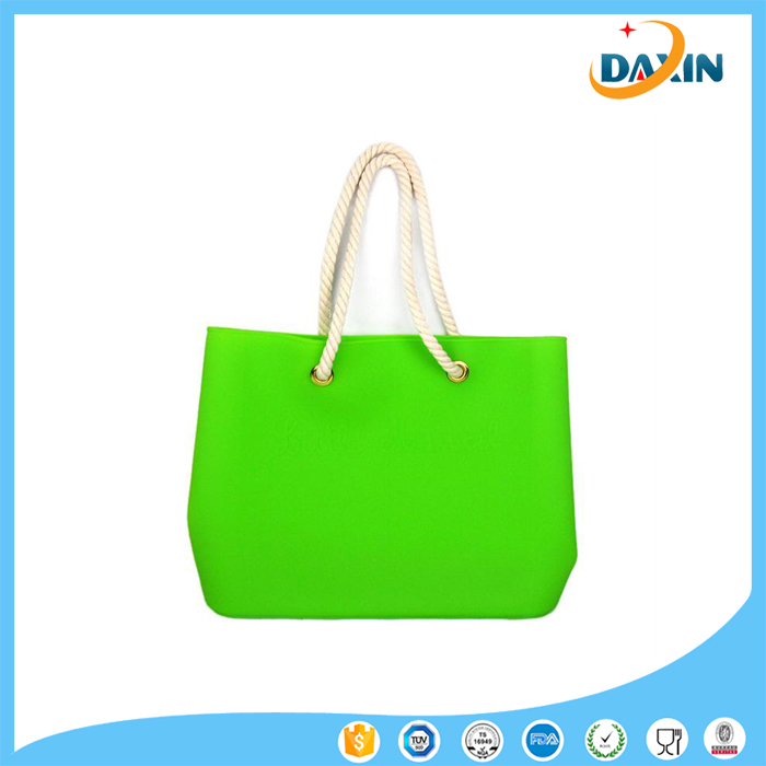 New design colorful cheap silicone beach bag