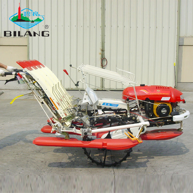 Agriculture machinery walking type manual 4 row rice transplanter