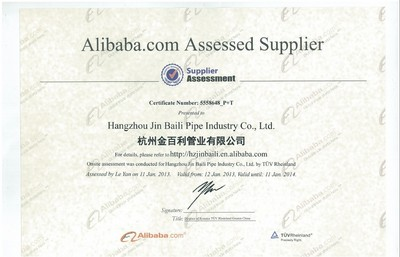 Alibaba.com Assessed Supplier