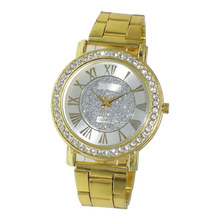 2016 new gold alloy stainless steel luxury diamond lady watch