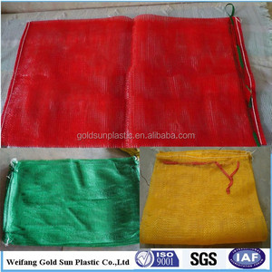 Breathable50kg 100kg Plastic Big Mesh Bag For Potato Onion fruit
