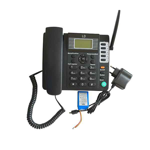 telephone portable Black GSM fixed wireless phone with SIM card