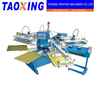 2016 Full Automatic 6 Color 2 Dryer Rotary T-shirt Screen Printer In China