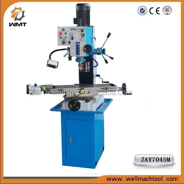 ZAY7045M mill 45 degree swivel table mill machinery bench top milling and drilling machine